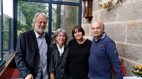 MObiLO-Macher Michael Andratschke, Pia Gattinger, Carin Götzfried und Lutz Götzfried (v.l.) (Foto: Michael Arlt)